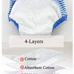 100% coton sous-vêtements de formation des pantalons filles imperméables garçons, culotte de couche-culotte bébé en bas âge bébé changeant nappe, pantalon d'apprentissage formation pot, 4 paquets de la marque YWXJY image 2 produit