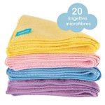 20 x Lingettes Bébé MICROFIBRES par Little Gubbins | Paquet de lingettes sèches et non-parfumées de la marque Little Gubbins image 1 produit