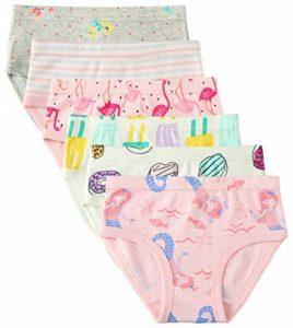 6 Paquet Petite Fille sous-vêtements Coton Fit Âge 1-7, Fille de Bébé Bambin Culottes de la marque Cotton Talk image 0 produit