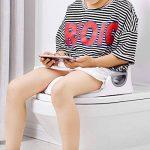 Aerobath Réducteur de Toilette, Siège De Toilette Pour Bébé Avec Coussin Poignée Dossier, Protection contre les éclaboussures, Conception Antidérapants, Réducteur de WC ergonomique de la marque Aerobath image 1 produit