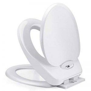 Amzdeal Abattant WC Fermeture douce avec l'enfant Abattant WC 2en 1, famille de sièges de WC, Abattant WC pour tout-petits d'apprentissage de la propreté Roulement 200Kg- Blanc de la marque Amzdeal image 0 produit