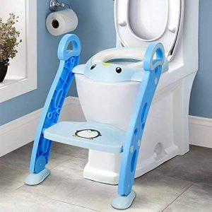 Amzdeal Réducteur de Toilette - avec Échelle Réglable Antidérapant, Siège de Toilette Pliable pour Enfant de 1–7 ans de la marque Amzdeal image 0 produit