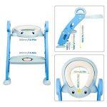 Amzdeal Réducteur de Toilette - avec Échelle Réglable Antidérapant, Siège de Toilette Pliable pour Enfant de 1–7 ans de la marque Amzdeal image 1 produit