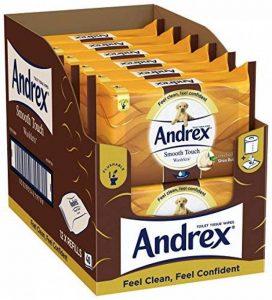Andrex Washlets Lingettes papier toilette jetable, toucher doux, Lot de 12 de la marque Andrex image 0 produit