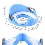 Apprentissage de la propreté Réducteurs de toilettes, sécurité antidérapante, assise rembourrée, Bébé Potty pour garçons et filles, pour Toilette ronds et ovales, Bleu de la marque QHYK image 3 produit