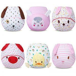 Ateid Culotte d'apprentissage Coton pour Bébé Fille, Lot de 6 de la marque Ateid image 0 produit