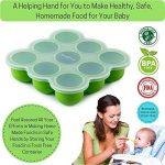 BabyBliss Multiportions 9x74ml | Couvercle à clipser en silicone | Sans toxine et sans BPA et approuvé par la FDA | Four et lave-vaisselle de la marque BabyBliss image 2 produit