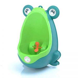 Babyhugs–mignon grenouille Lunette WC Formation Pipi pour urinoir pour garçons avec roue de moulin à vent Whirling Cible–Peluche–Vert de la marque BabyHugs image 0 produit