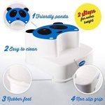 Bébé double niveaux schemel–La zwinkernde Panda–Marchepied pour enfant–Idéal pour les enfants Salle de bains ou enfant toilettes d'entraînement de la marque Luvdbaby image 3 produit
