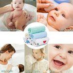 bébé Gants de Toilette Bio Naturel Serviettes de bain ultra doux de qualité premium et absorbant bébé Lingettes pour peaux sensibles et délicates de infantile (6 pack) de la marque PB PEGGYBUY image 3 produit
