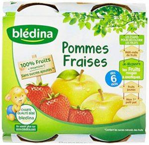 Blédina Pots fruits Pommes Fraises dès 6 mois 4 x 130 g - Pack de 6 de la marque Blédina image 0 produit