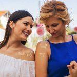 BRT Bachelorette Party Tattoos Accessoires pour la poupée, 24 tatouages temporaires pour la mariée Gold Team + 6 tatouages pour la mariée métallique pour la décoration de douche nuptiale de la marque BRT image 1 produit