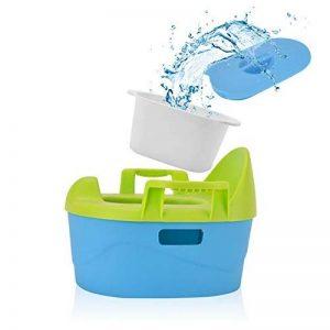 Chaise Pot pour Bébé 3 en 1, Safe&Care, Toilette Portable pour Bébé, Apprentissage du Pot pour Fille et Garçon (Bleu et Vert) de la marque Safe&Care image 0 produit