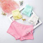 CHIC-CHIC Boxer Slip Lot de 4 Fille Bébé Enfant Culotte Pantalon Sous-Vêtement en Coton Motif Mignon Uni de la marque De feuilles image 1 produit