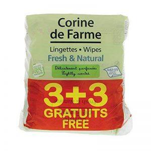 Corine de Farme 3 + 3 Lingettes Change Fresh/Natural Parfumées au Calendula Apaisant de la marque Corine-de-Farme image 0 produit