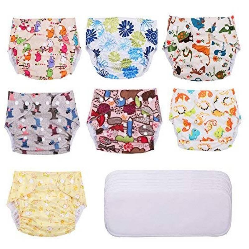 Joyo roy Set DE 4 Pcs B/éb/é Slip Coton Bloomers Confortable Respirant Taille /Élastique Culotte Filles Imprim/é Animal sous-V/êtements Garcon 1-4 Ans