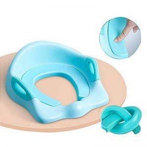 Coussin de siège de toilette de formation de pot de bébé Pads Boys Girls, Kids Travel Potty Ring Assistant d'urinoir portable, entraîneur de toilette avec poignée, Coussin et dossier de PU souple de la marque YWXJY image 0 produit
