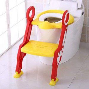 Cute Escabeau pour bébé Toilette Pot Escabeau Tabouret par Babyhugs- Jaune et rouge de la marque BabyHugs image 0 produit