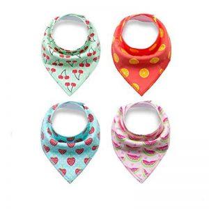 CuteOn Unisexe Baby Bandana Drool Bibs 4 Pack de Coton Absorbant Cadeau Pour Enfant Filles Garçons de la marque CuteOn image 0 produit