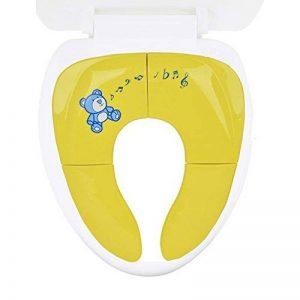Cymax Voyage Siège Pliable de Toilette Siège Pot Portable Pour Bébé WC Réducteur de voyage Folding Travel Potty Seat Pour Enfants bébé,Jaune de la marque Cymax image 0 produit