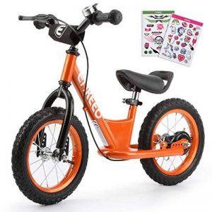 """ENKEEO 12"""" Draisienne Pas de Pédale de Contrôle Vélo de Marche de Formation de Transition avec Siège Réglable et Guidon Rembourré pour Les Enfants de la marque ENKEEO image 0 produit"""