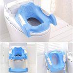 enshey Toilet Trainer avec escalier Bébé Enfants Enfants Garçons Filles Pot Siège avec échelle Couvertures Chaise pliante Toilette WC Enfant (Bleu & Rose) de la marque Enshey image 1 produit