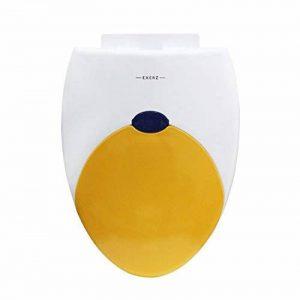 """Exerz PP-052 18"""" Siège de toilette avec siège d'enfant intégré Pot pour enfants/Abattant de toilette/WC/charnières stables/facile à monter/salle de bain Toilettes (Jaune) de la marque Exerz image 0 produit"""