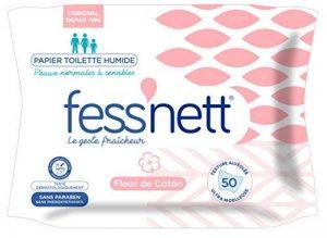Fess'Nett Papier Toilette Humide Fleur de Coton - Lot de 4 de la marque Fess Nett image 0 produit