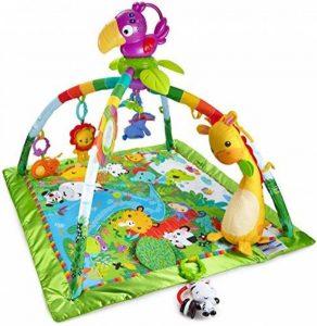 Fisher-Price Tapis Musical d'Éveil de la Jungle pour Bébé, avec Plus de 10 Jouets et Activités, Musique et Lumières Dansantes, dès la Naissance, DFP08 de la marque Fisher-Price image 0 produit