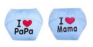 Fontee Baby 2 pièces Coton Culotte d'apprentissage pour garçons,Lavable, imperméable à l'eau, réutilisable, 1-3 ans, 10 ~ 20 kg, bleu de la marque Fontee Baby image 0 produit