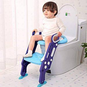 GBlife Siège de Toilette Enfant Pliable Reducteur de Toilette Bébé Échelle de Toilette avec Marches Larges Lunette de Toilette Confortable Souple Enfants Hygiéniques Tabouret de la marque GBlife image 0 produit