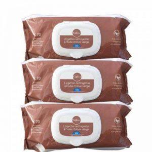 Gifrer Lingettes Nettoyantes à l'Huile d'Olive Vierge - Lot de 3 paquets de 70 Lingettes de la marque Gifrer image 0 produit