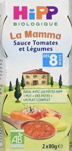 Hipp Biologique La Mamma Sauce Tomates et Légumes dès 8 mois - 12 Pots de 80 g de la marque Hipp-Biologique image 0 produit