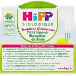 Hipp Biologique Traditions Gourmandes Petits Légumes Blanquette de Dinde dès 8 mois - 8 bols de 190 g de la marque Hipp-Biologique image 3 produit