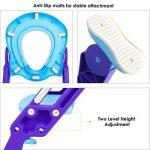 HOMFA Siège de Toilette Enfant Pliable et Réglable, Reducteur de Toilette Bébé avec Marches Larges, Lunette de Toilette Confortable Matériaux de Haute Qualité (Bleu et Violet) de la marque Homfa image 2 produit