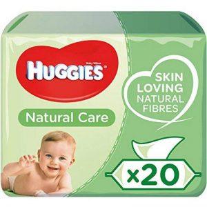 Huggies 560 Lingettes Natural Bébé à l'Aloe Vera x 10 - Lot de 2 de la marque Huggies image 0 produit