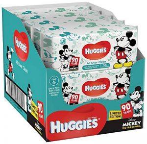 Huggies Édition spéciale Personnages Disney aléatoires Lot de 10 paquets de lingettes bébé Total 10 x 56 lingettes de la marque Huggies image 0 produit