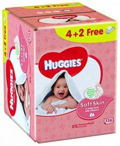 Huggies Lingettes Soft Skin X4 Packs + 2 Gratuits - Lot de 3 de la marque Huggies image 0 produit