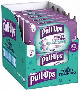 Huggies Pull Up pour WC d'entraînement Lingettes, Lot de 12 de la marque Huggies image 0 produit