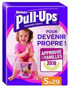 Huggies Pull-Ups Fille Taille 4/Small (8-15 kg), Couche-culotte d'Apprentissage de la Propreté Disn de la marque Huggies image 0 produit
