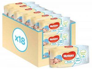 Huggies Pure 18 Packs de 56 Lingettes de la marque Huggies image 0 produit