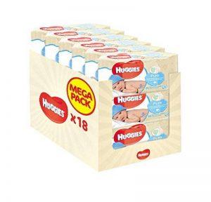 Huggies Pure 18 Packs de 56 lingettes (soit 1008 Lingettes) de la marque Huggies image 0 produit