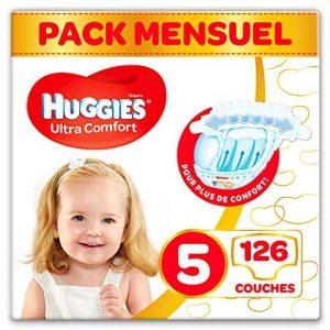 Huggies - Ultra Comfort - Couches Bébé Unisexe - Taille 5 (11-25 kg) x126 Couches - Pack 1 Mois de la marque Huggies image 0 produit