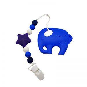 INCHANT 100% de qualité jouet teether silicone alimentaire avec silicone Sucette clip - au congélateur, au lave-vaisselle bébé jouet de dentition pour les enfants, des nourrissons et des tout-petits de la marque Inchant image 0 produit