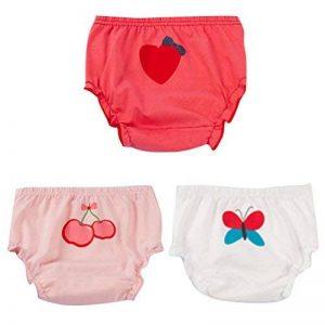 JEELINBORE Bébé filles Souple et Confortable Sous-vêtements Imprimé Ruffle Panties Culottes Bloomers, 3pcs | pour 1-5 Ans de la marque JEELINBORE image 0 produit
