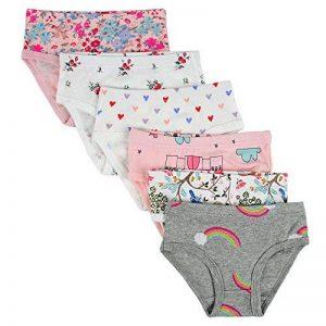 Kidear Culottes Douces en Coton de la Série pour Enfants de Culottes Assorties des Petites Filles(Paquet de 6) de la marque Kidear image 0 produit