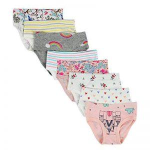 Kidear Culottes Douces en Coton de la Série pour Enfants de Culottes Assorties des Petites Filles(Paquet de 8) de la marque Kidear image 0 produit