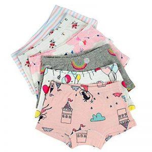 Kidear Série d'Enfants sous-Vêtement de Bébé Slip en Coton Coluttes pour Petite Filles (Lot de 6) de la marque Kidear image 0 produit