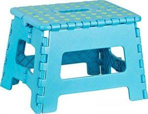 Kigima Tabouret banqueta plegable en Plastique Petit 29x22x22cm Bleu de la marque Kigima image 0 produit