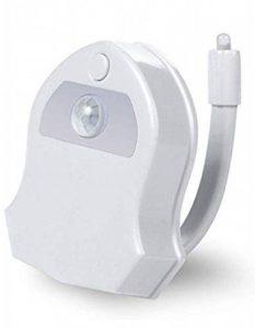 KINO Lampe de Toilette Veilleuse LED pour WC/Salle de Bain Capteur Détecteur PIR 16 Changement de Couleurs Éclairage de la marque KINO image 0 produit